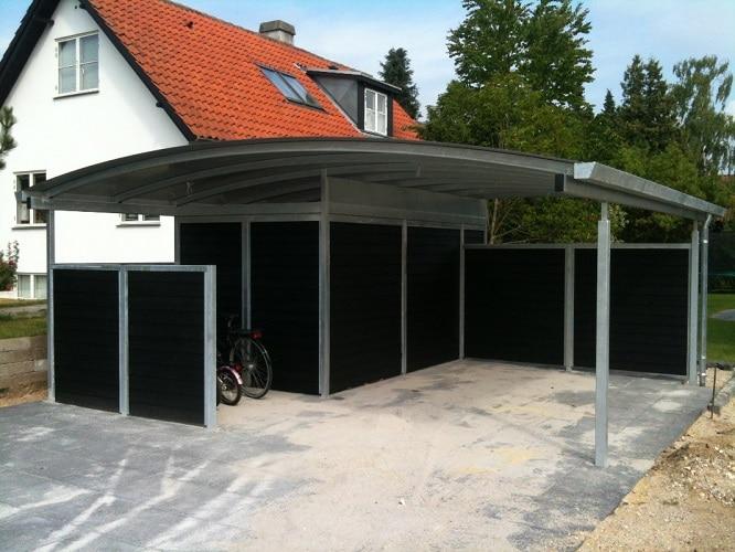 Stål carport med redskabsrum - Service Guide - Artikeldatabase